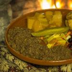 Блюдо купца von Hueck из тушеной лосятины и кабанины